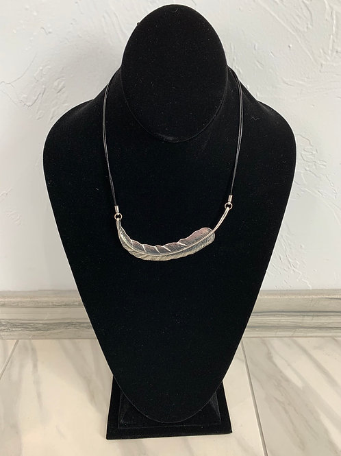 Lauren Michael Statement Necklace Small Rounded Feather