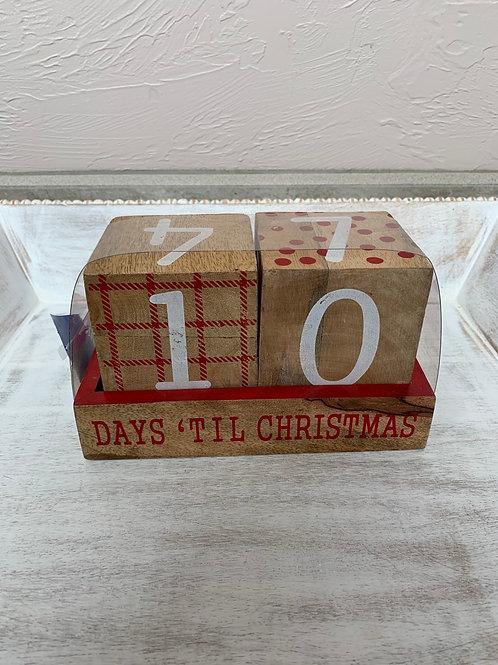 Mud Pie Christmas Countdown Blocks