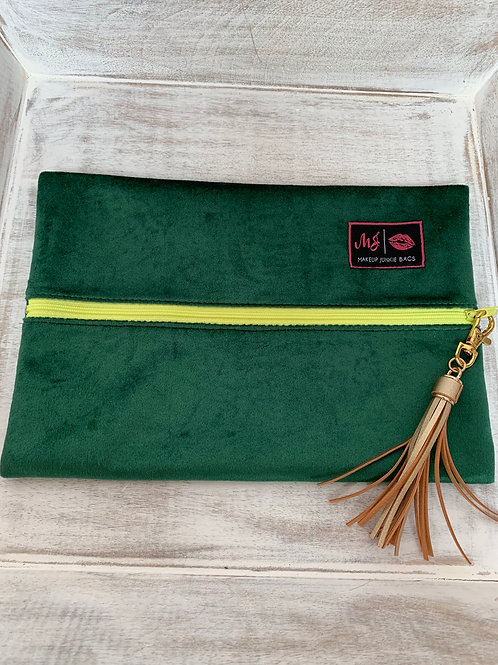 Makeup Junkie Bags Destash Emerald Yellow Zipper Medium