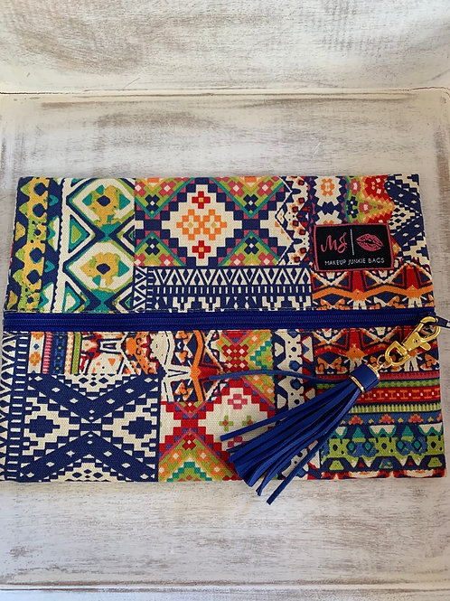 Makeup Junkie Bags Colorful Aztec Medium