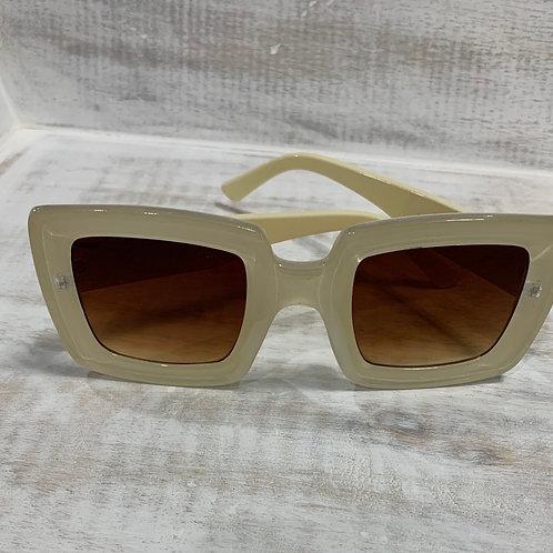 Cream Square Sunglasses