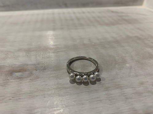 Lauren Michael 5 Pearl Ring