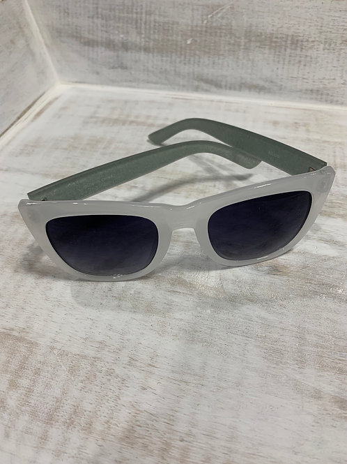 White Sunglasses with Glitter