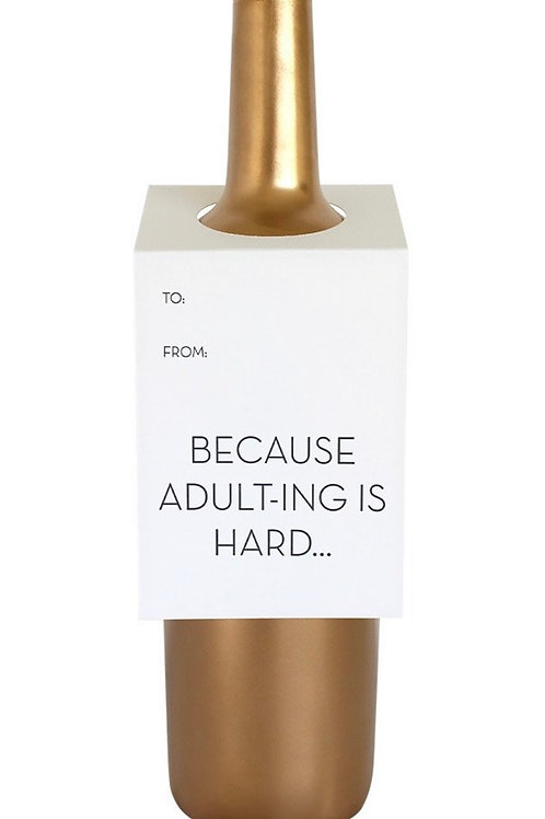 Adulting Wine and Spirit Tag