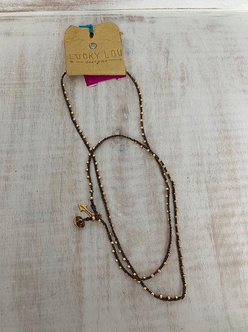 Lucky Lou Crochet Wrap Bracelet