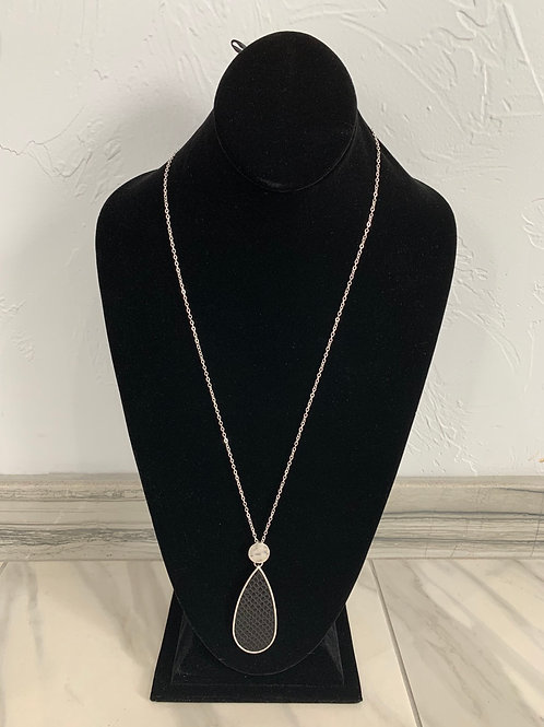 CSCO Black Drop Necklace