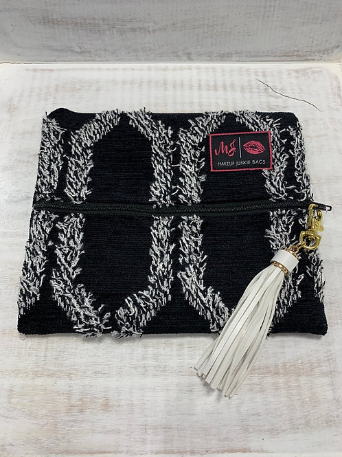 Makeup Junkie Bags Black Shag Small