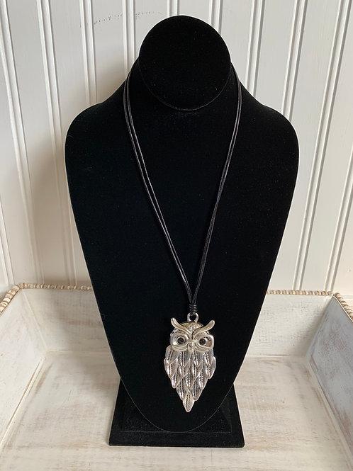 Lauren Michael Glasses Owl Necklace