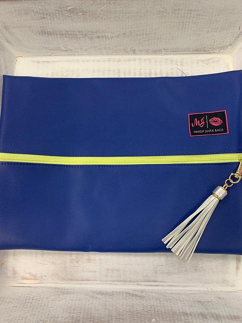 Makeup Junkie Bags Electric Blue Large