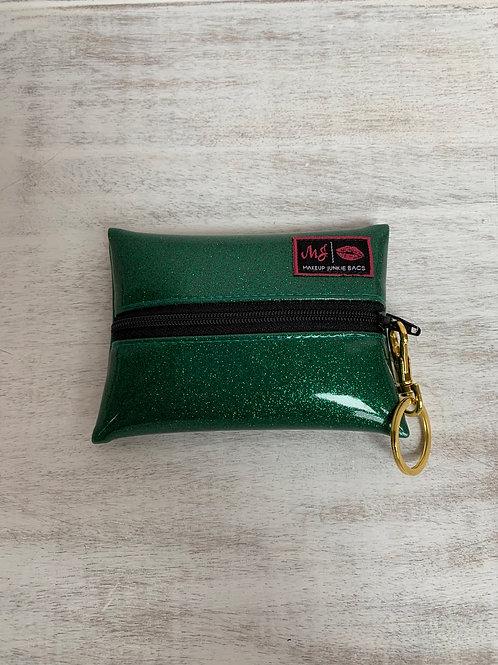 Makeup Junkie Bags Emerald Glitter Micro