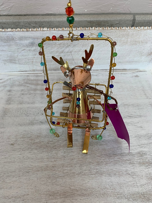 ASW Ski Lift Reindeer Ornament