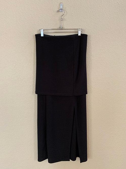 Last Tango Black Turned Over Waist Long Skirt S