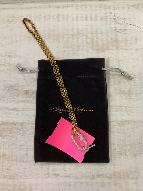 Ariel's Promise Hold Fast Pave Necklace