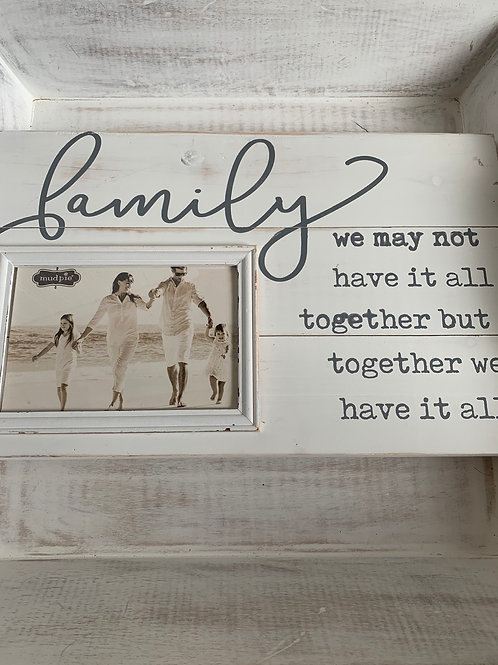 Mud Pie Family Frame