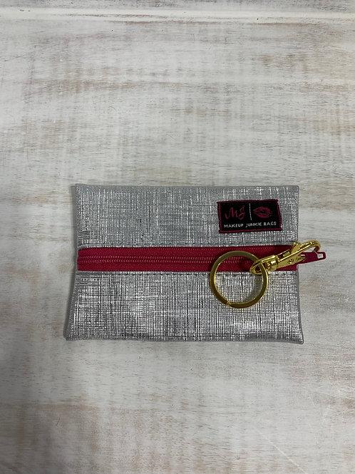 Makeup Junkie Bags Silver Lining Pink Zipper Micro