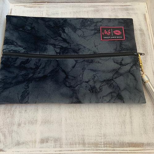 Makeup Junkie Bags Destash Charcoal Marble Medium