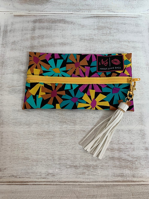 Makeup Junkie Bags Turnkey Bright Daisy Glam Stripe Mini