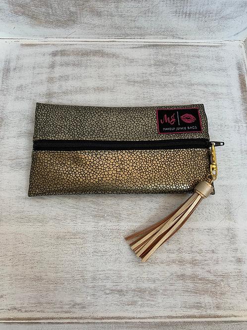 Makeup Junkie Bags Destash Gold Pebble Mini