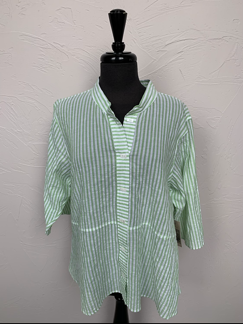 Habitat Green Striped Shirt