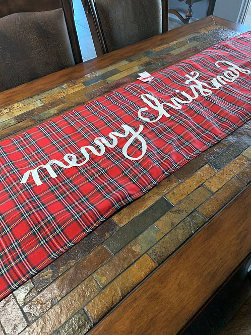 Mud Pie Tartan Table Runner
