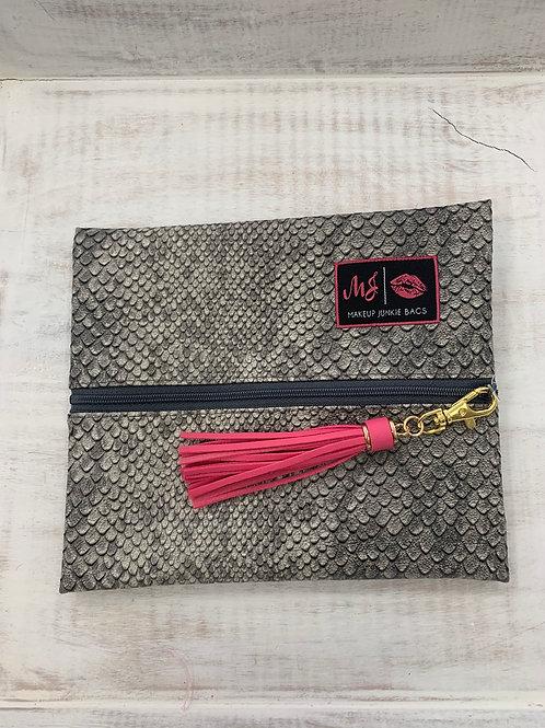 Makeup Junkie Bags Gray Cobra Small