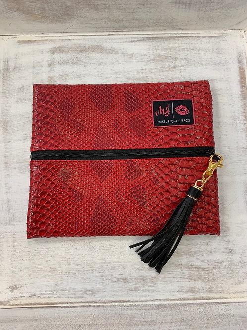 Makeup Junkie Bags Crimson Cobra Small