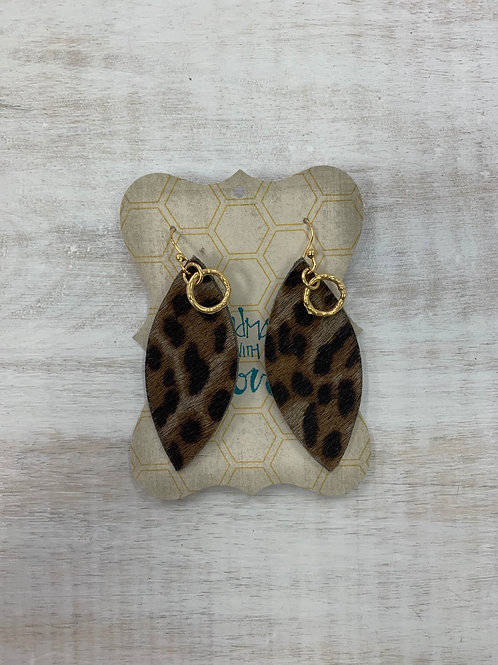 MistiC Leopard Gold Ring Dangle Earrings