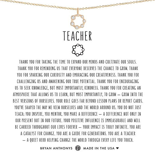 Bryan Anthony's Teacher Necklace