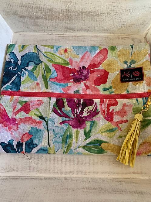 Makeup Junkie Bags Destash Bright Watercolor Large