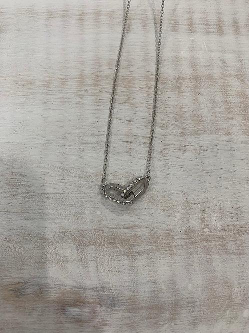 Lauren Michael Silver Chain Pendant Necklace