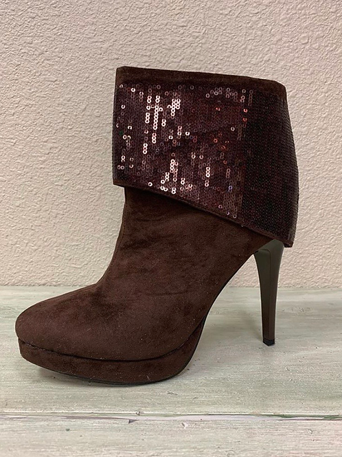 Helen's Heart Short Cuffed Boot Brown