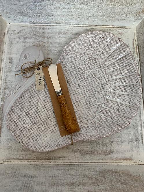 Mud Pie Turkey Platter Set