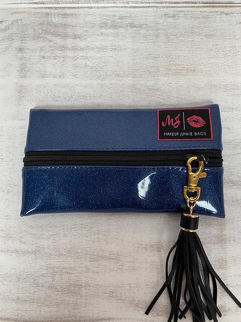 Makeup Junkie Bags Indigo Glitter Mini