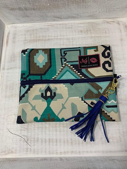 Makeup Junkie Bags Phoenix Blue Small