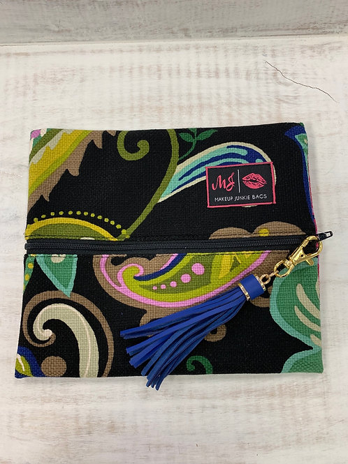 Makeup Junkie Bags Paisley Floral Small