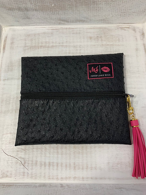 Makeup Junkie Bags Quill Onyx Small