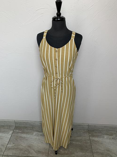 Hem and Thread Yellow Maxi Dress