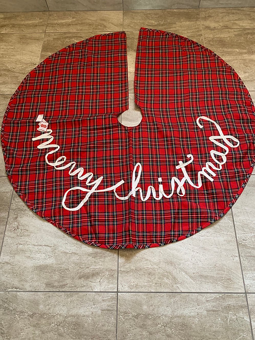 Mud Pie Tartan Tree Skirt