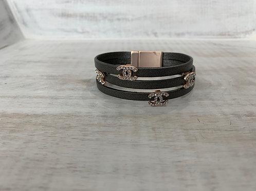 Lauren Michael Gray Chanel Inspired Bracelet