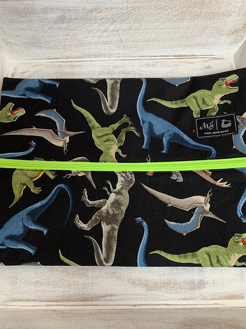 Man Junk Bags Prehistoric Lime Zipper Large