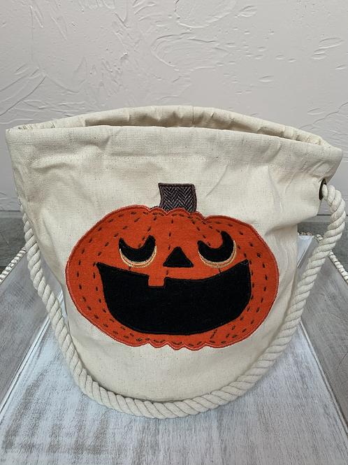 Mud Pie Pumpkin Bucket Tote