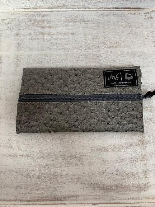 Man Junk Bags Slate Gray Zipper Mini