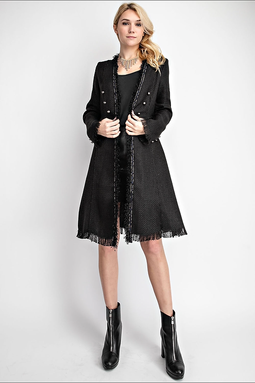 Vocal Long Coat with Blue and Black Details