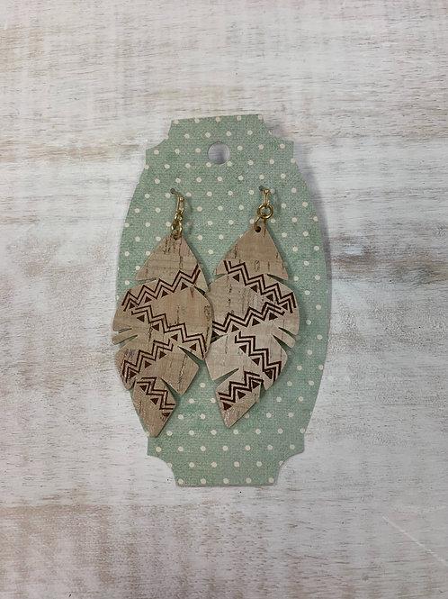 MistiC Tribal Wood Feather Earrings