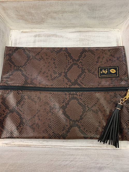 Makeup Junkie Bags Python Large