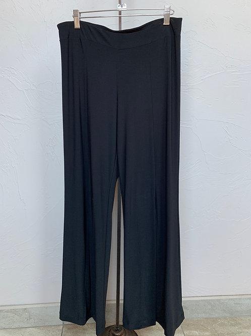 Last Tango Black Pants with Front Slit