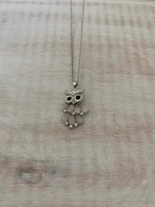 Lauren Michael Silver Owl Necklace