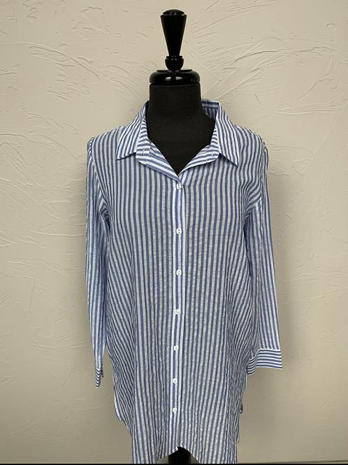Habitat Blue Striped Shirt