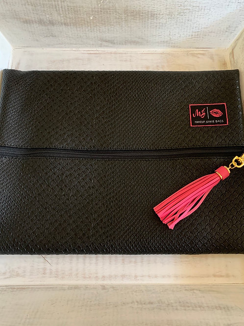 Makeup Junkie Bags Black Cobra Large