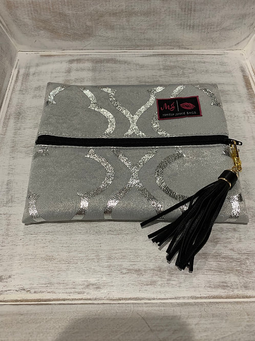 Makeup Junkie Bags Silver Sky Small